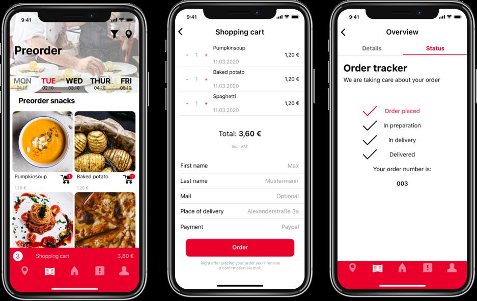 Aramark setzt auf ein Bestellsystem per App.
