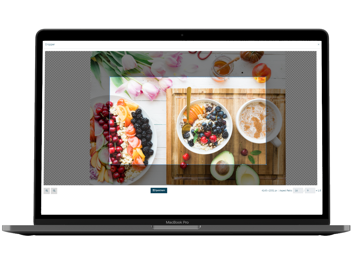 The new cropping function allows youto also choose the right image  section additionally to the picture format.