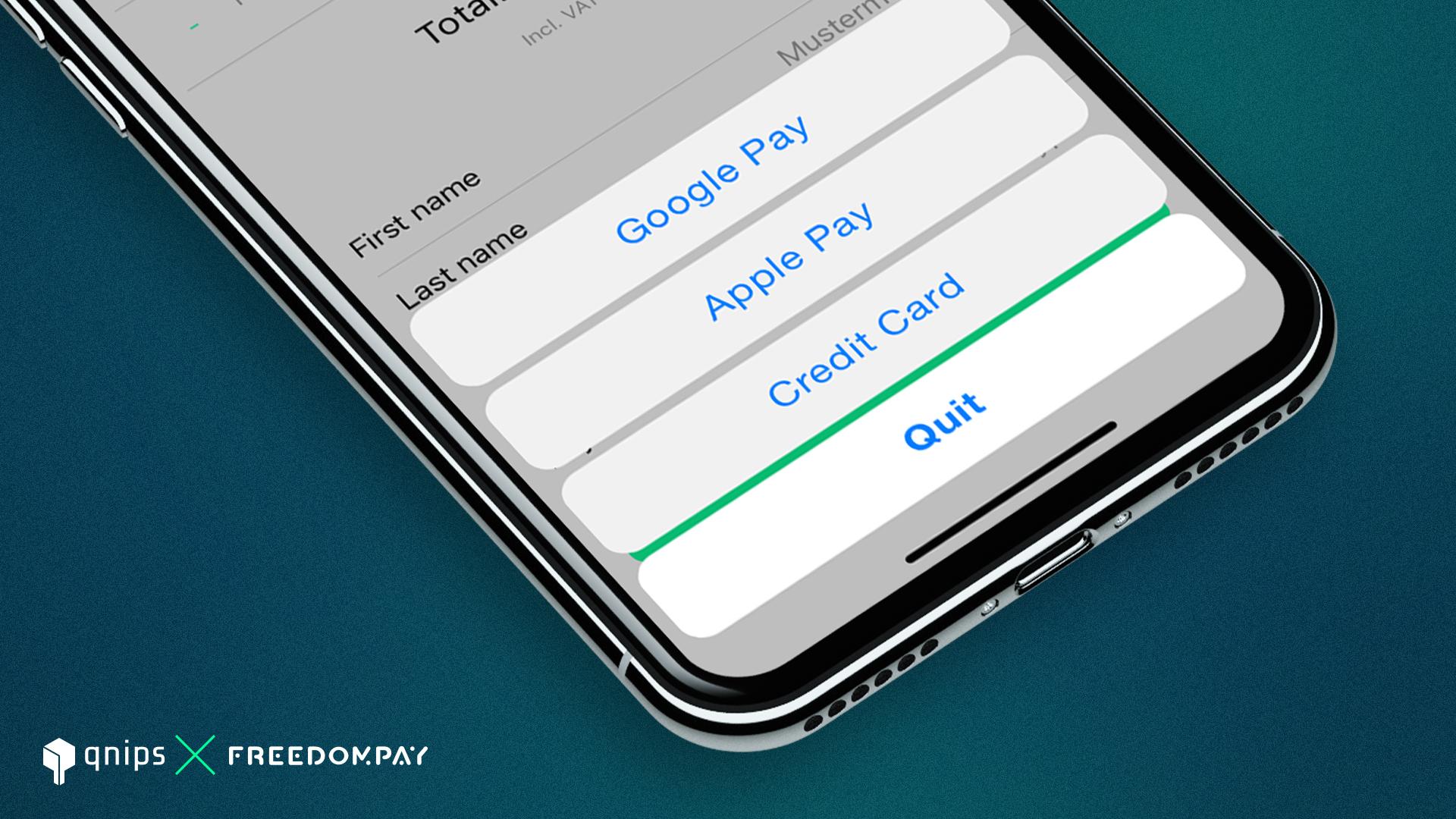 Die qnips Plattform ermöglicht Zahlungen sowohl für Google Pay, als auch für diverse Kreditkarten Anbieter.