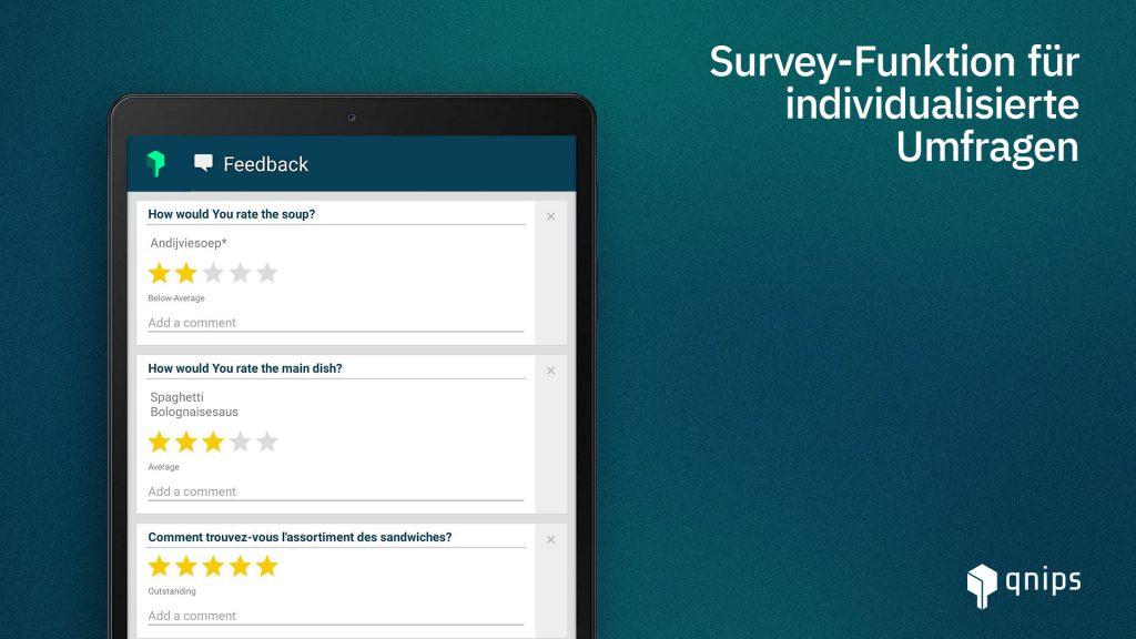Das qnips Feedback Feature bietet verschiedene Möglichkeiten zum Sammeln von Kundenfeedback