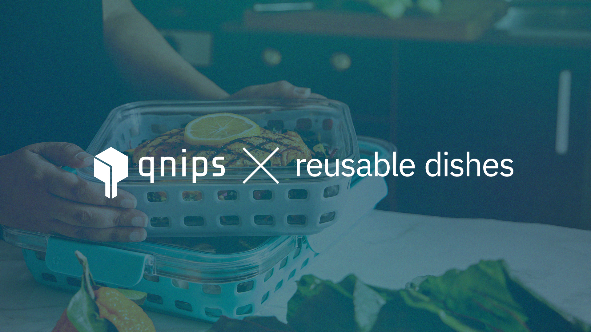 qnips offers an integration for reusable dishes