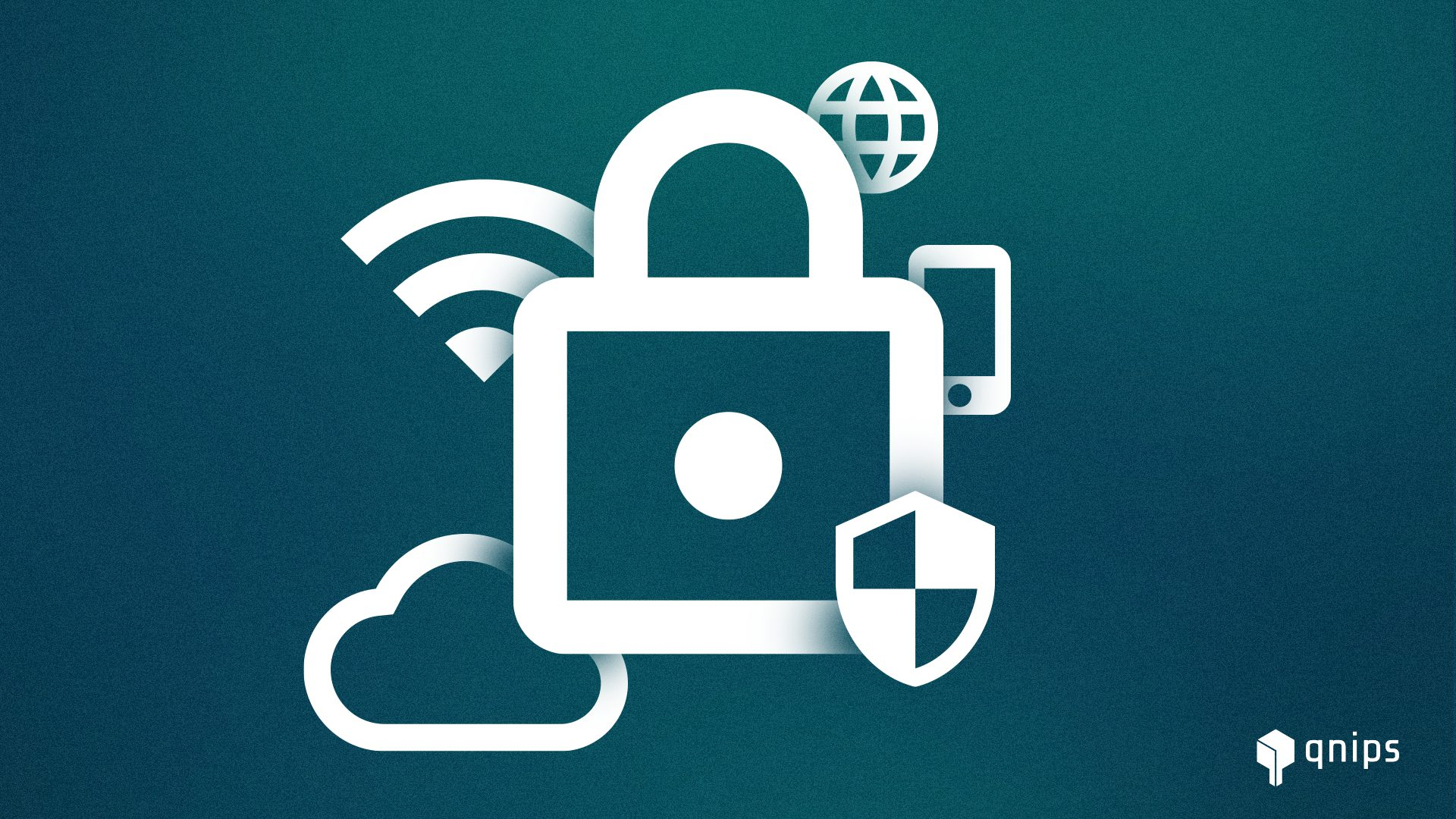 Datenschutz, Schloss, WLAN Zeichen